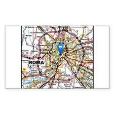 Map of Rome Italy Decal