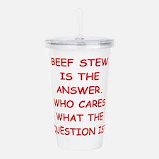 beef stew Acrylic Double-wall Tumbler