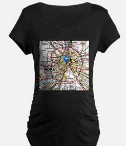 Map of Rome Italy Maternity T-Shirt