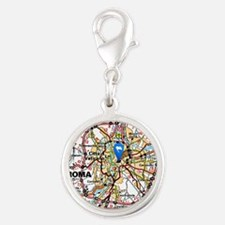 Map of Rome Italy Charms