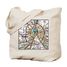 Map of Rome Italy Tote Bag