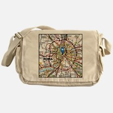Map of Rome Italy Messenger Bag