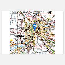 Map of Rome Italy Invitations
