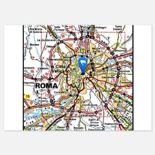 Map of Rome Italy Invitations