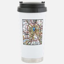 Map of Rome Italy Stainless Steel Travel Mug