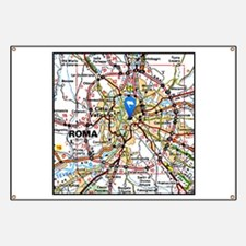 Map of Rome Italy Banner