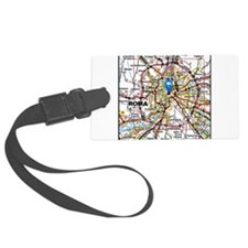 Map of Rome Italy Luggage Tag
