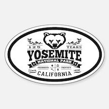 Yosemite Vintage Sticker (Oval)