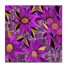 Adinkra Pattern Tile Coaster
