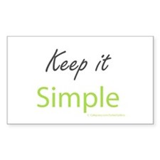 Keep it Simple Sticker (Rectangle 10 pk)