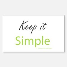 Keep it Simple Decal