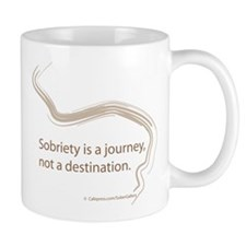 sobriety is a journey Small Mugs