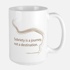 sobriety is a journey Large Mug