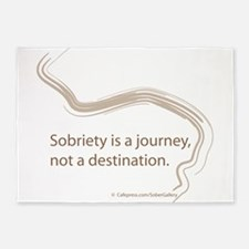 sobriety is a journey 5'x7'Area Rug