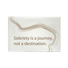 sobriety is a journey Rectangle Magnet