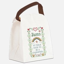 Damn it feels good to be a gangst Canvas Lunch Bag