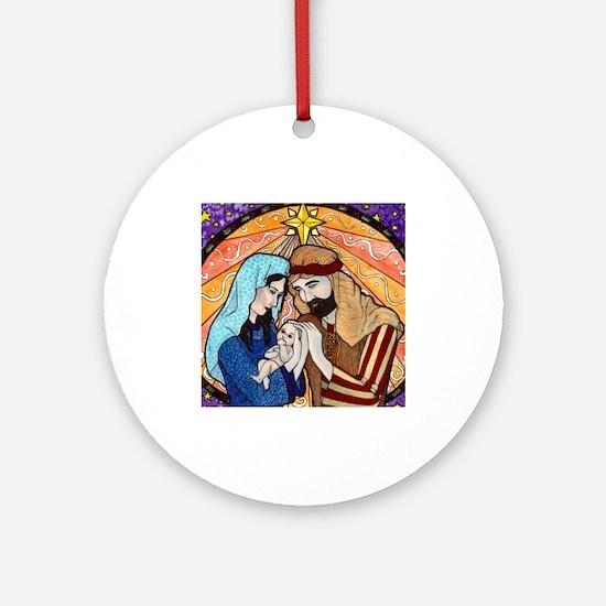 Nativity Ornament (Round)