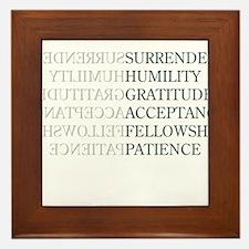 Surrender Framed Tile