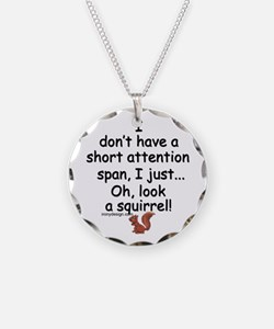 Attention Span Squirrel Necklace