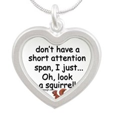 Attention Span Squirrel Necklaces