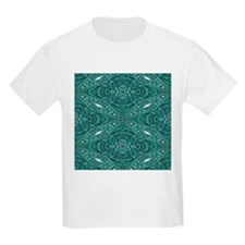 girly chic teal turquoise tooled leather T-Shirt