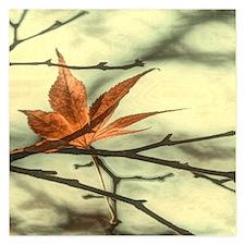 autumn maple leaves fall landscape Invitations
