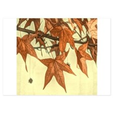 autumn maple leaves fall Invitations