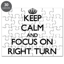 Keep Calm and focus on Right Turn Puzzle