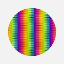 """Wild Zany Rainbow Menagerie 3.5"""" Button"""