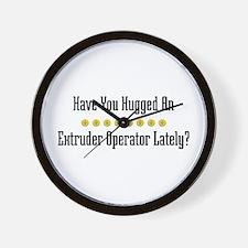 Hugged Extruder Operator Wall Clock