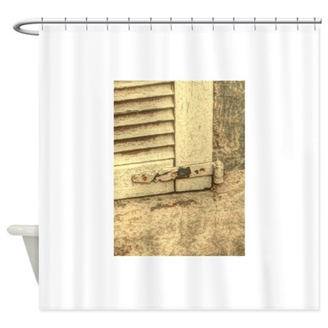 Rustic Window Western Country Far Shower Curtain By ADMIN