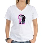 Dappled Arabian Women's V-Neck T-Shirt
