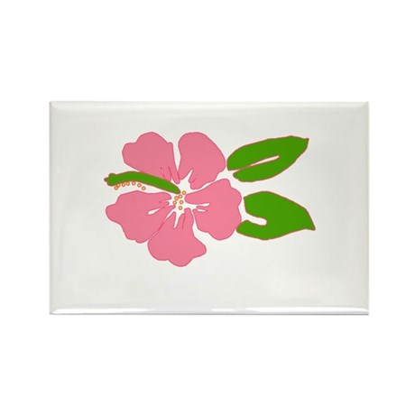 Big Beautiful Hibiscus Rectangle Magnet (10 pack)