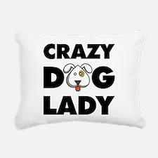 Crazy Dog Lady Rectangular Canvas Pillow