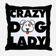 Crazy Dog Lady Throw Pillow