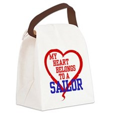 My Heart Belongs to a Sailor Canvas Lunch Bag