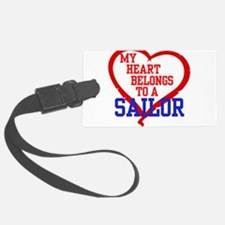 My Heart Belongs to a Sailor Luggage Tag