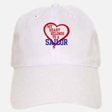 My Heart Belongs to a Sailor Baseball Baseball Baseball Cap