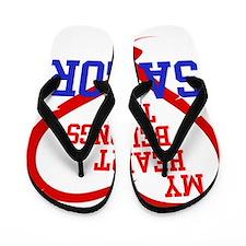 My Heart Belongs to a Sailor Flip Flops