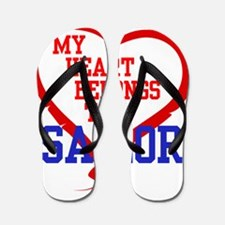 My Heart Belongs to a Sailor Flip Flops