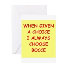 bocce Greeting Card