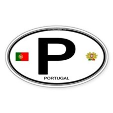 Portugal Intl Oval Oval Decal