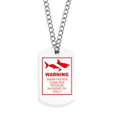 shark warning back copy.png Dog Tags