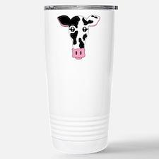 Sweet Cow Face Design Stainless Steel Travel Mug