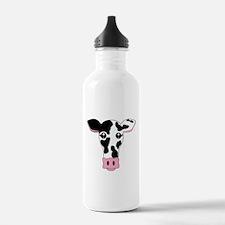 Sweet Cow Face Design Water Bottle