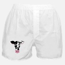 Sweet Cow Face Design Boxer Shorts