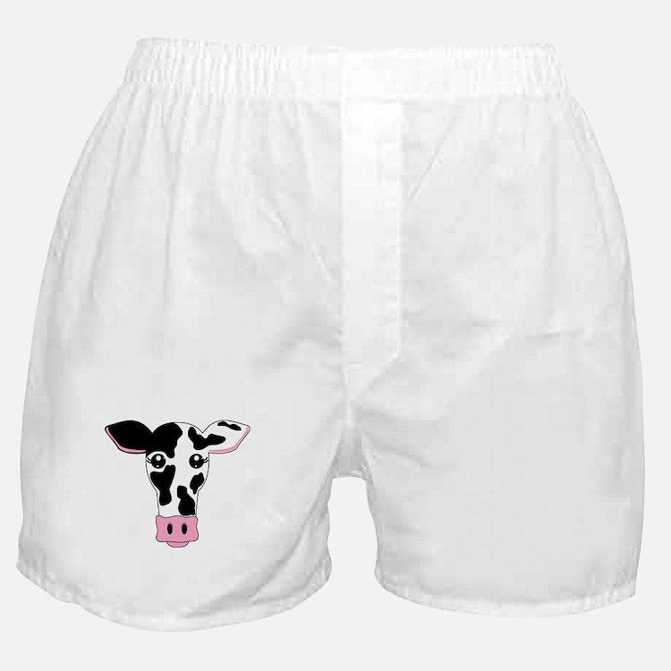 Sweet Cow Face Design Boxer Shorts