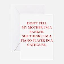 banker Greeting Card