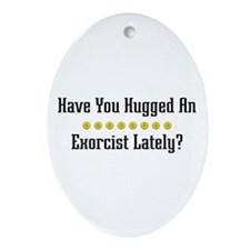 Hugged Exorcist Oval Ornament