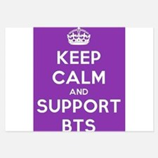 Keep calm and support BTS Invitations